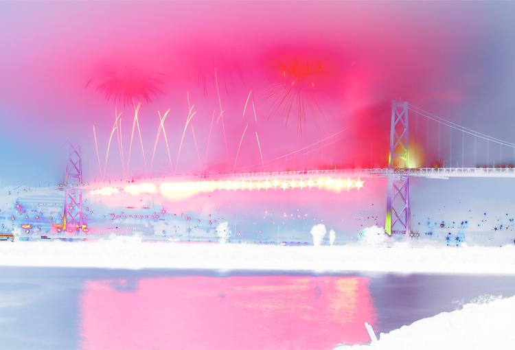 Pink and White Bridge